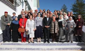مع متقاعدين في زيارة لقصر قرطاج