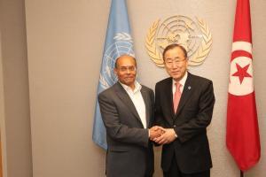 مع بان كي مون السكرتير العام للأمم المتحدة