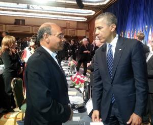 مع باراك أوباما رئيس الولايات المتحدة الأمريكية